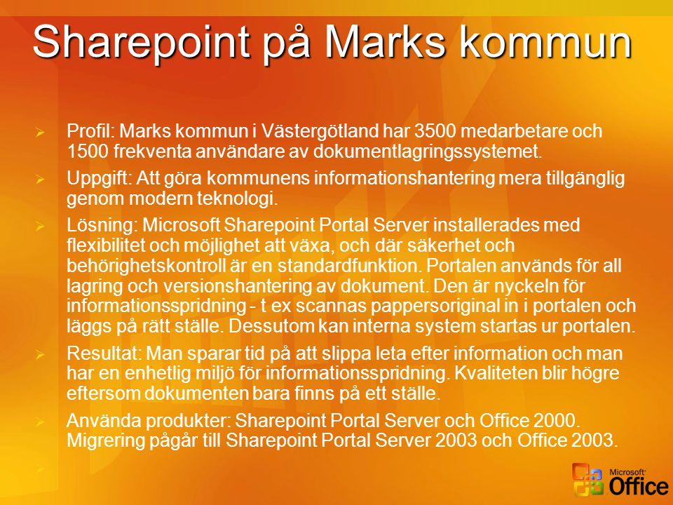 Sharepoint på Marks kommun