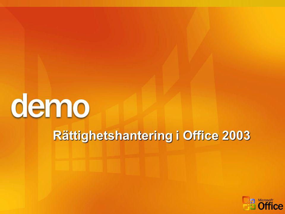 Rättighetshantering i Office 2003