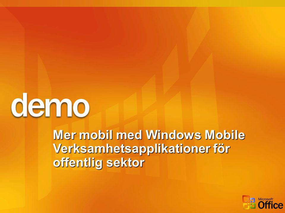 Mer mobil med Windows Mobile