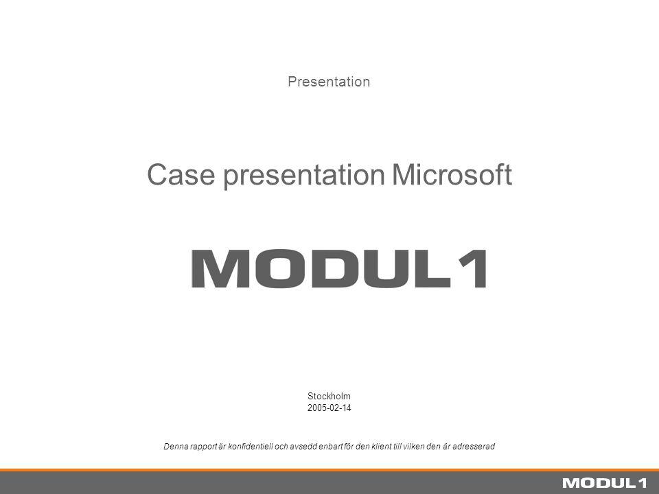 Case presentation Microsoft