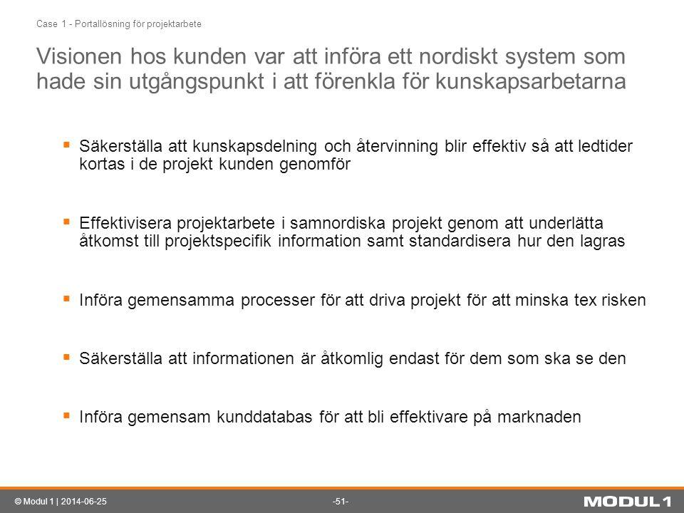 Case 1 - Portallösning för projektarbete