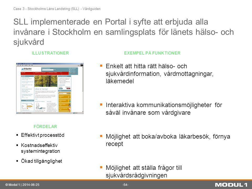 Case 3 - Stockholms Läns Landsting (SLL) - Vårdguiden