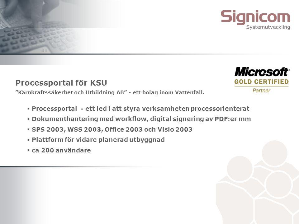 Processportal för KSU Kärnkraftssäkerhet och Utbildning AB - ett bolag inom Vattenfall.