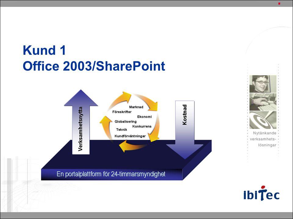 Kund 1 Office 2003/SharePoint