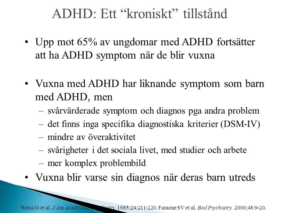 ADHD: Ett kroniskt tillstånd