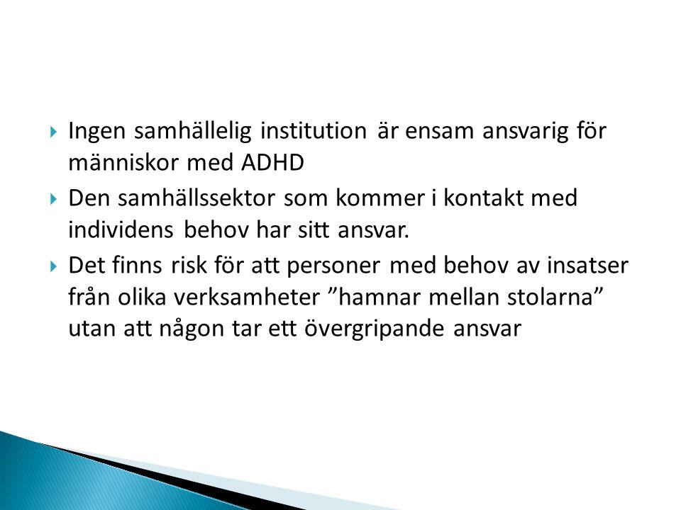 Ingen samhällelig institution är ensam ansvarig för människor med ADHD