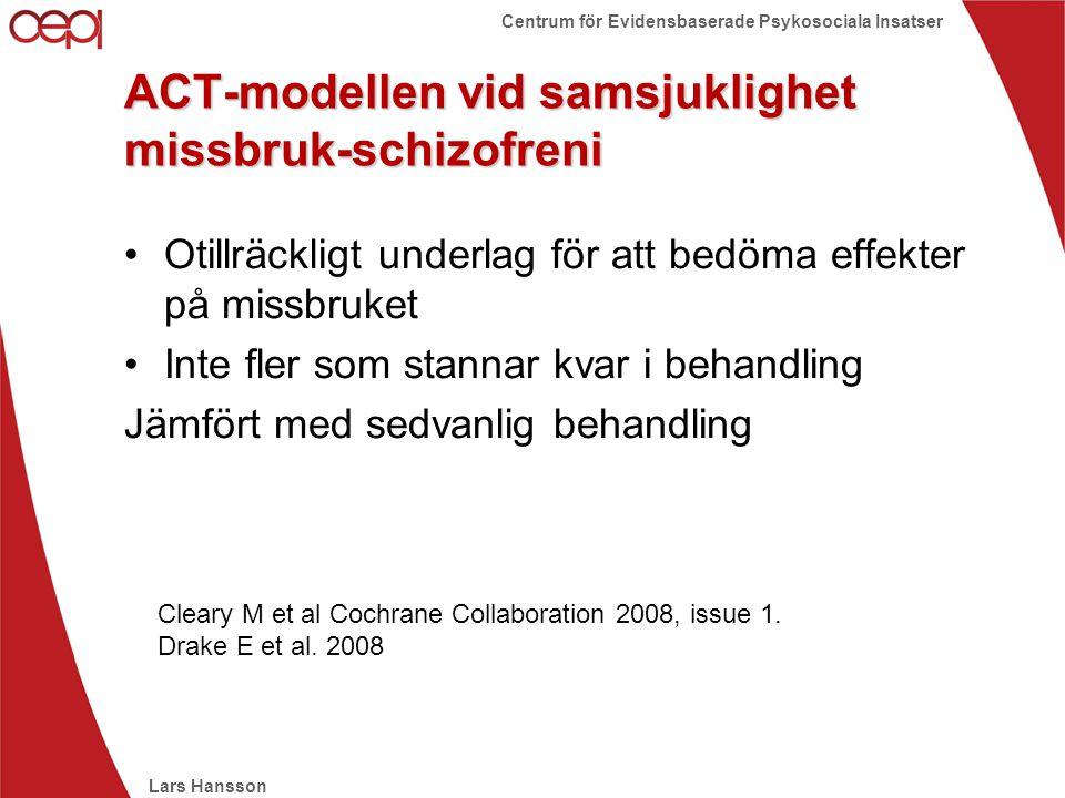 ACT-modellen vid samsjuklighet missbruk-schizofreni