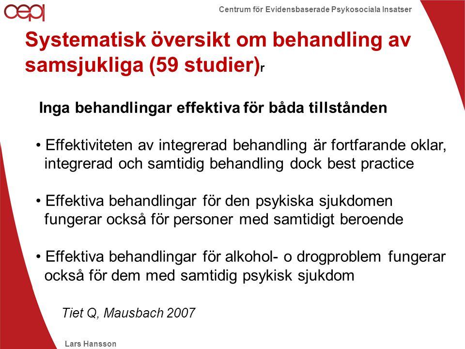 Systematisk översikt om behandling av samsjukliga (59 studier)r