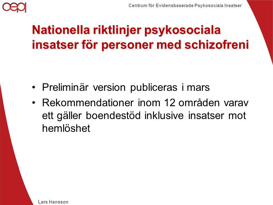 Nationella riktlinjer psykosociala insatser för personer med schizofreni