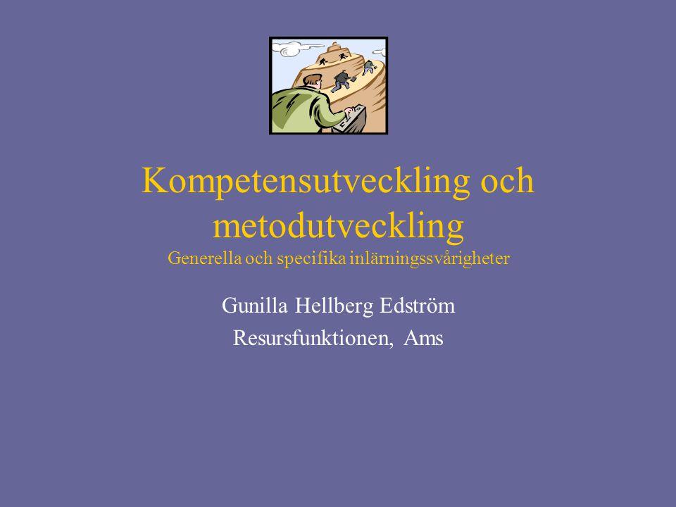 Gunilla Hellberg Edström Resursfunktionen, Ams