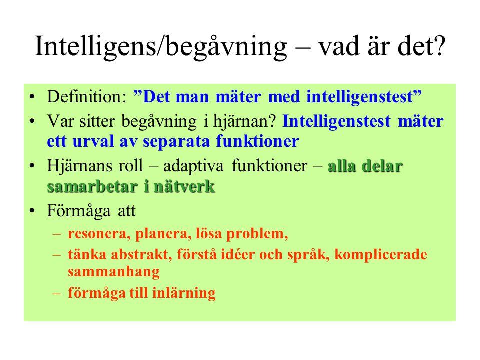 Intelligens/begåvning – vad är det