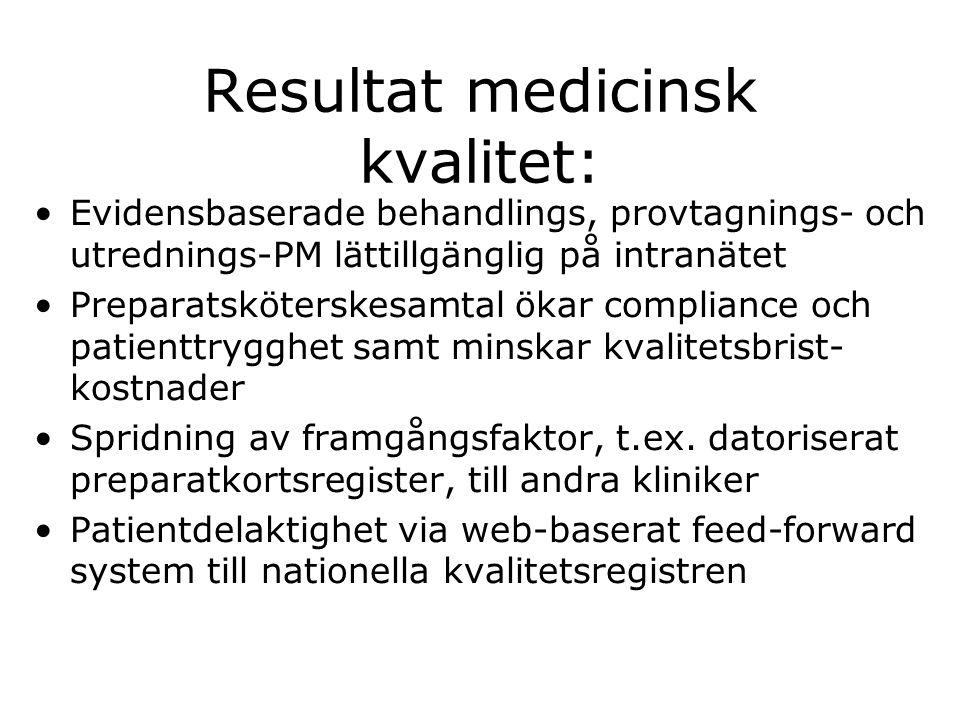 Resultat medicinsk kvalitet: