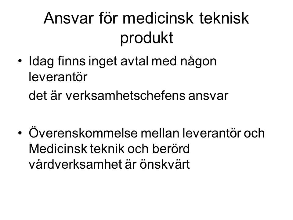 Ansvar för medicinsk teknisk produkt