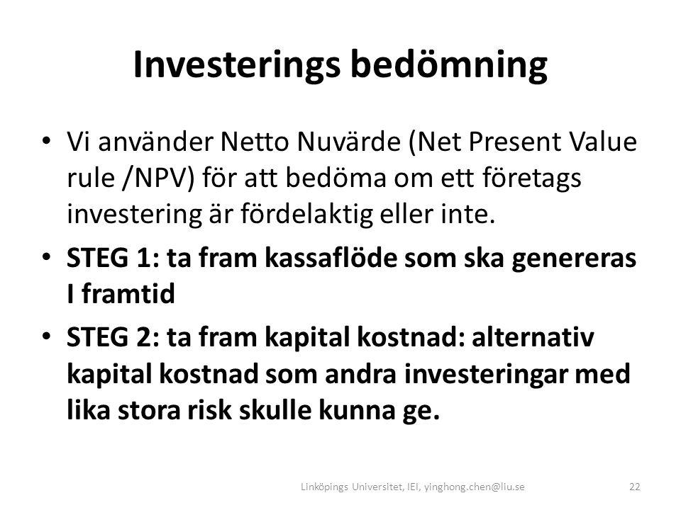 Investerings bedömning