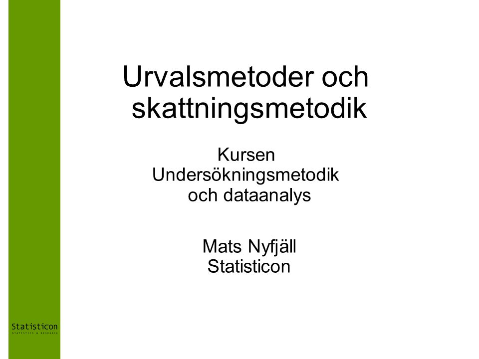 Mats Nyfjäll Statisticon