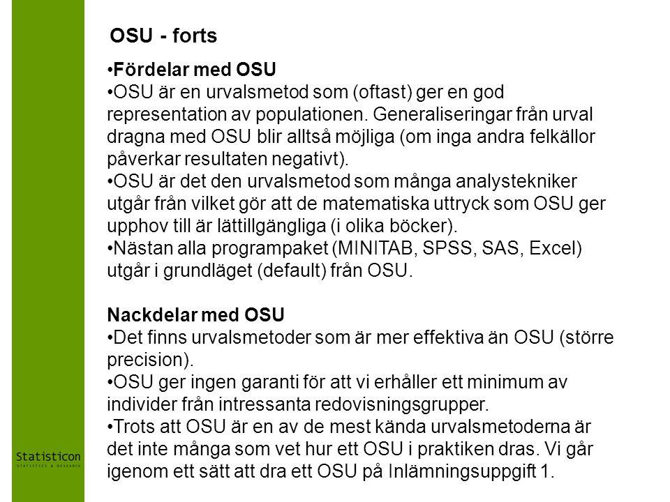 OSU - forts Fördelar med OSU