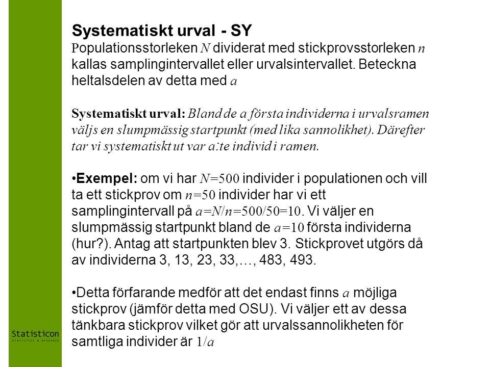 Systematiskt urval - SY