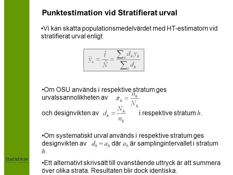 Punktestimation vid Stratifierat urval