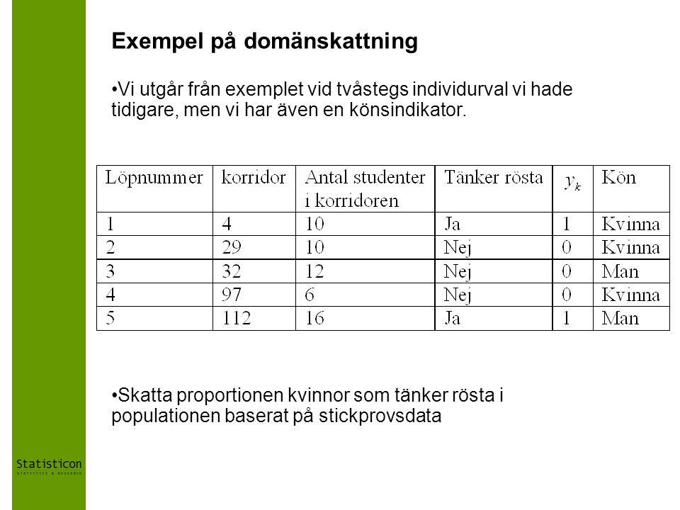 Exempel på domänskattning