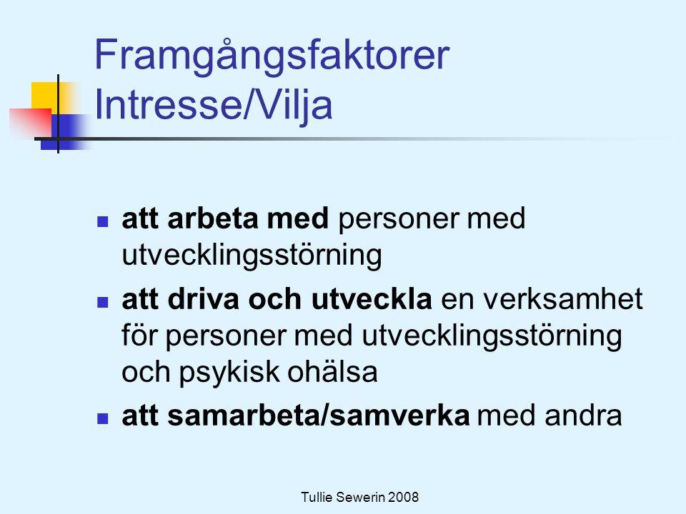 Framgångsfaktorer Intresse/Vilja