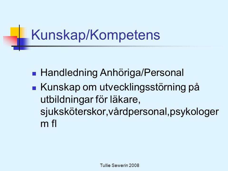 Kunskap/Kompetens Handledning Anhöriga/Personal