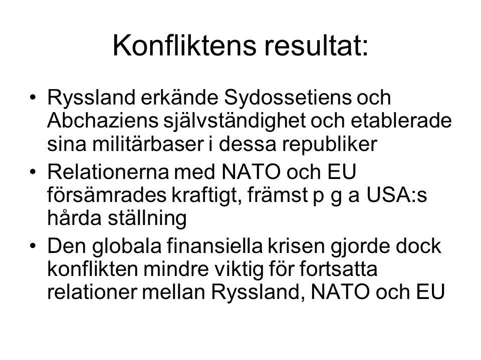Konfliktens resultat: