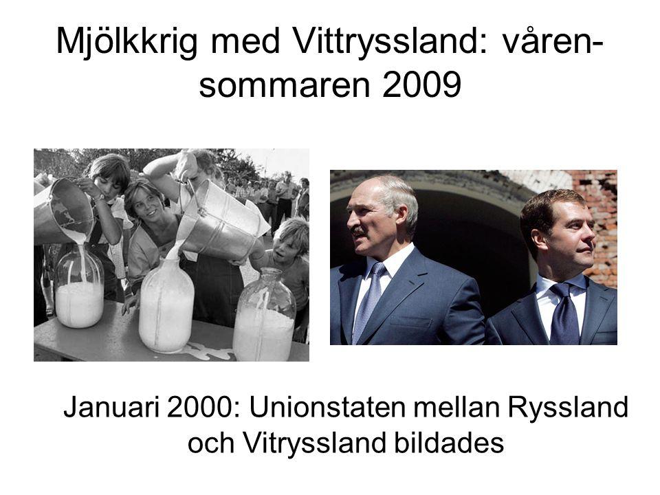 Mjölkkrig med Vittryssland: våren-sommaren 2009
