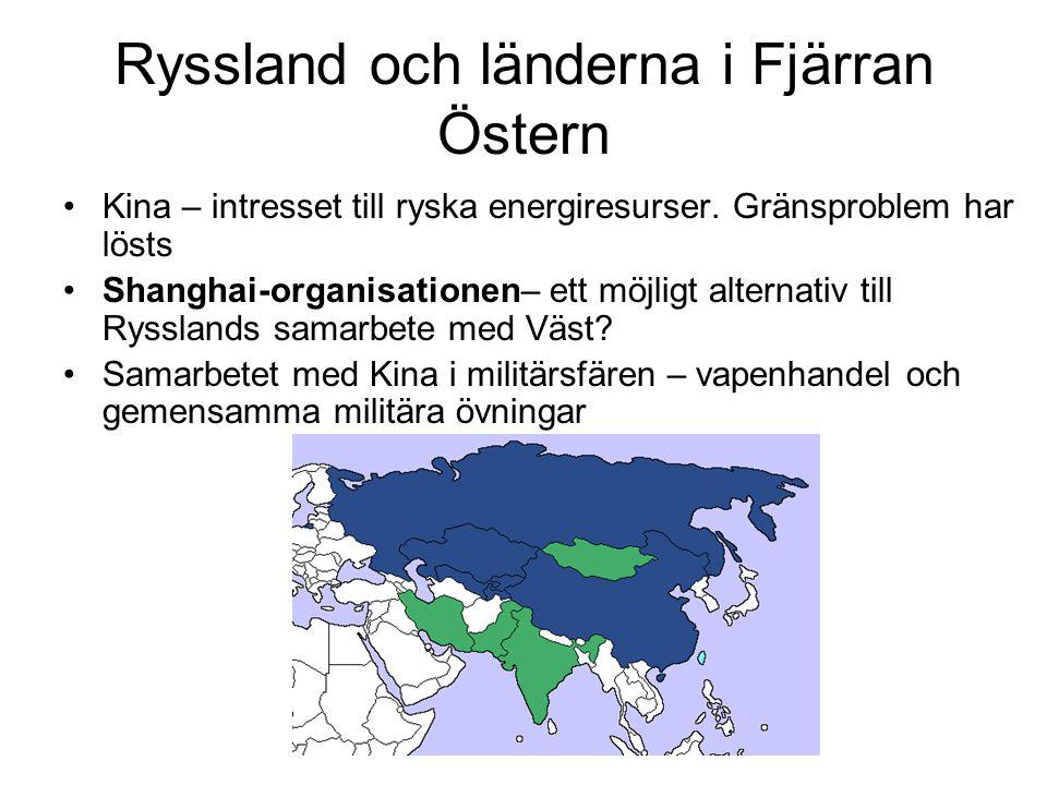 Ryssland och länderna i Fjärran Östern