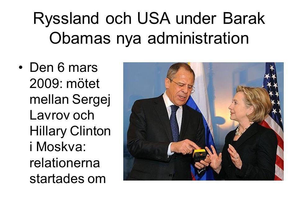 Ryssland och USA under Barak Obamas nya administration