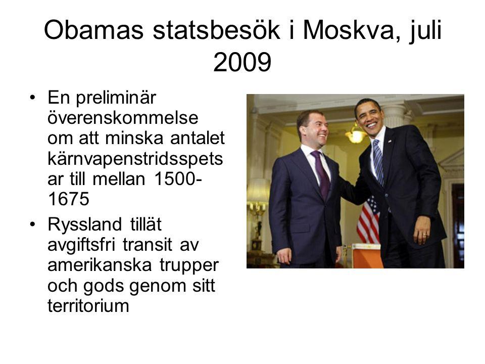 Obamas statsbesök i Moskva, juli 2009