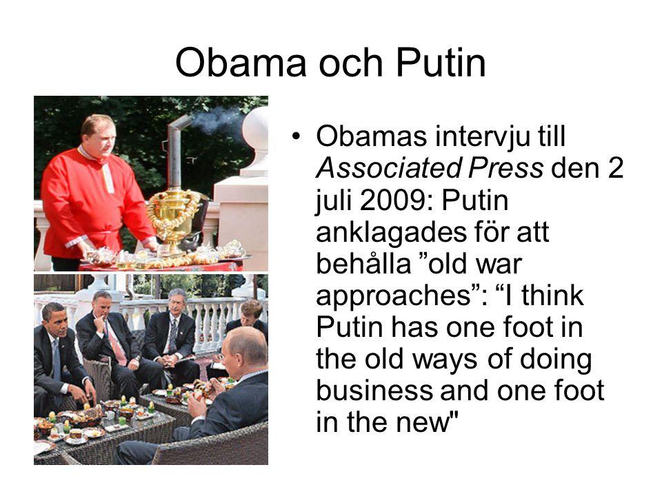 Obama och Putin