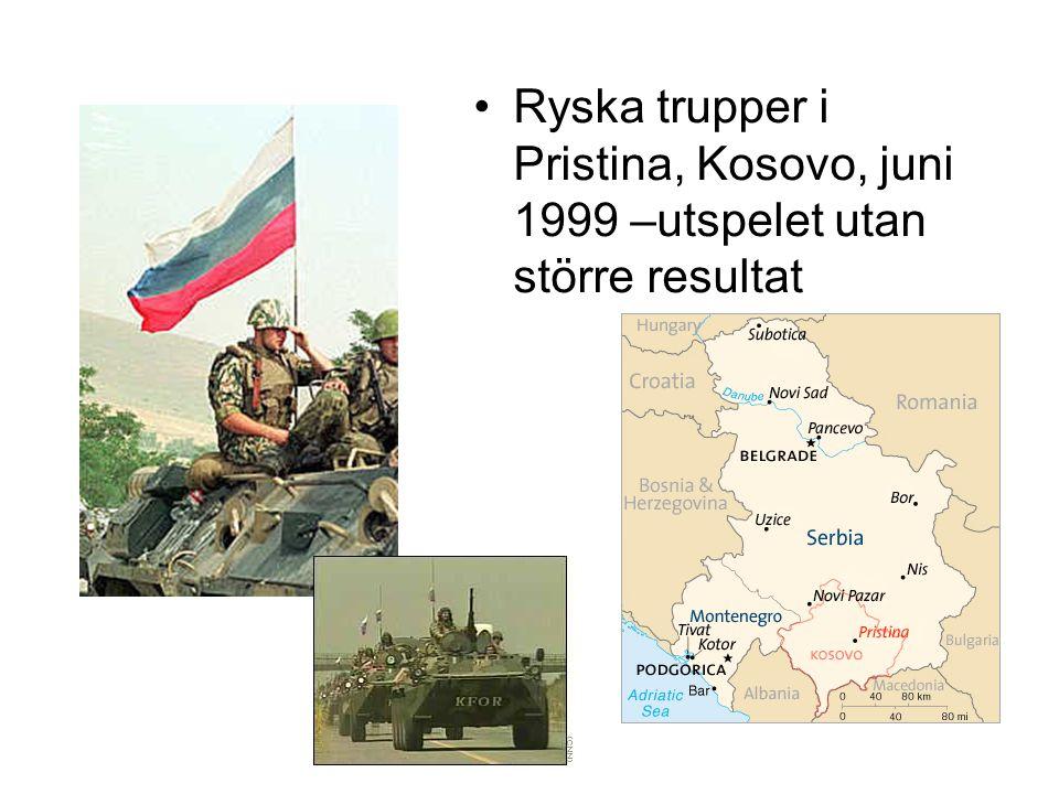Ryska trupper i Pristina, Kosovo, juni 1999 –utspelet utan större resultat