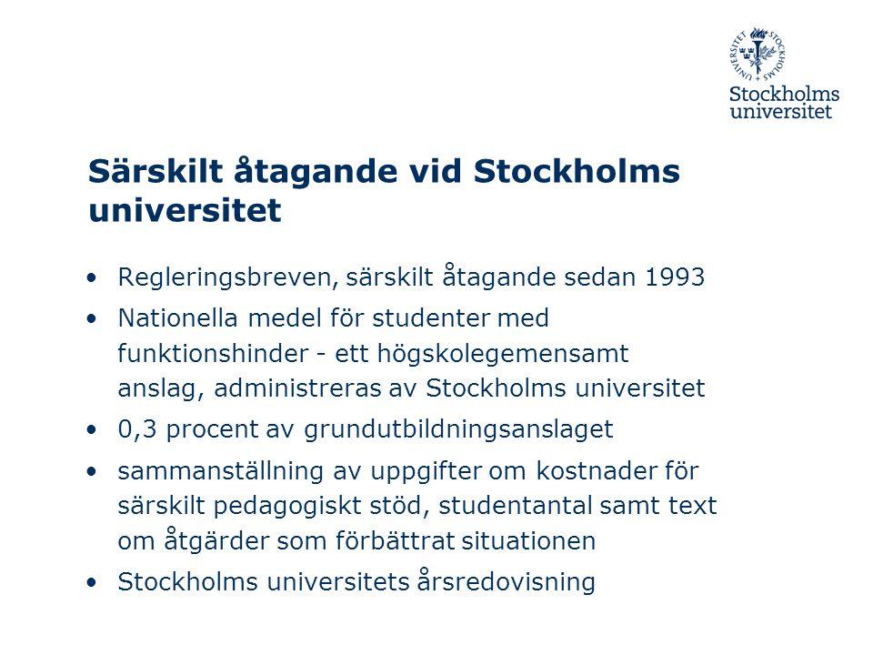 Särskilt åtagande vid Stockholms universitet