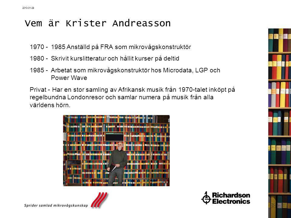 Vem är Krister Andreasson