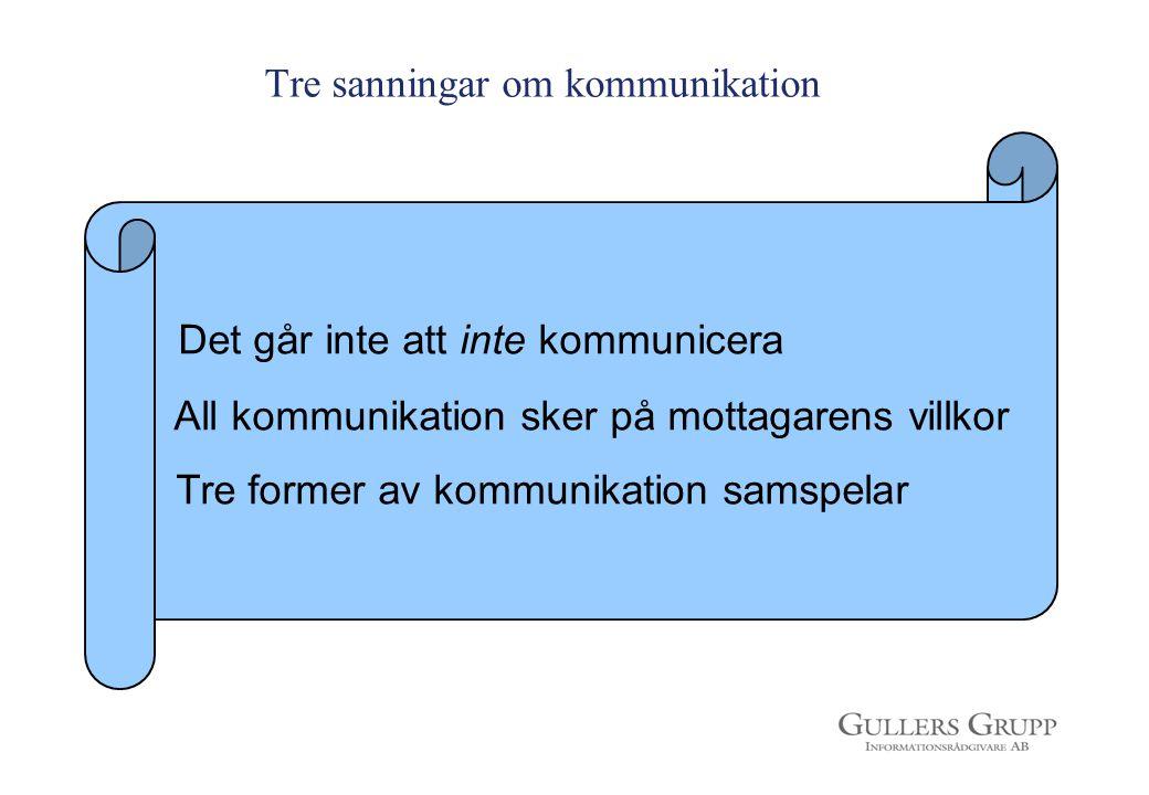 Tre sanningar om kommunikation