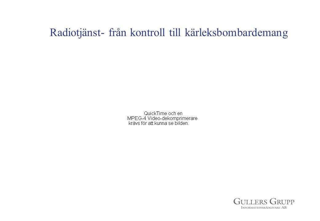 Radiotjänst- från kontroll till kärleksbombardemang