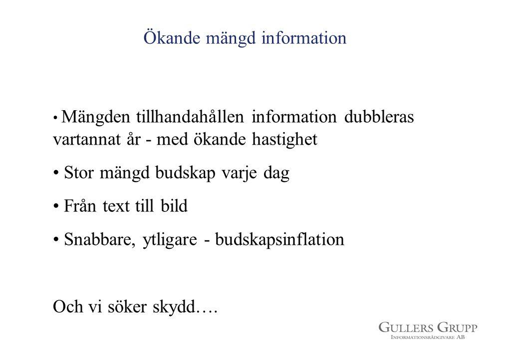 Ökande mängd information