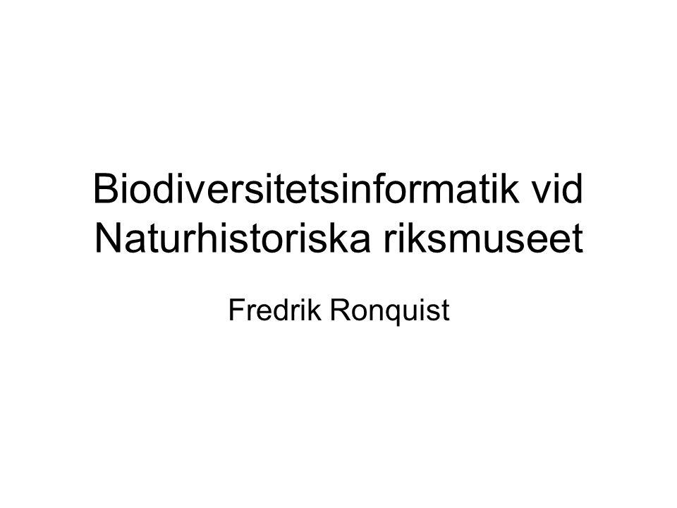 Biodiversitetsinformatik vid Naturhistoriska riksmuseet
