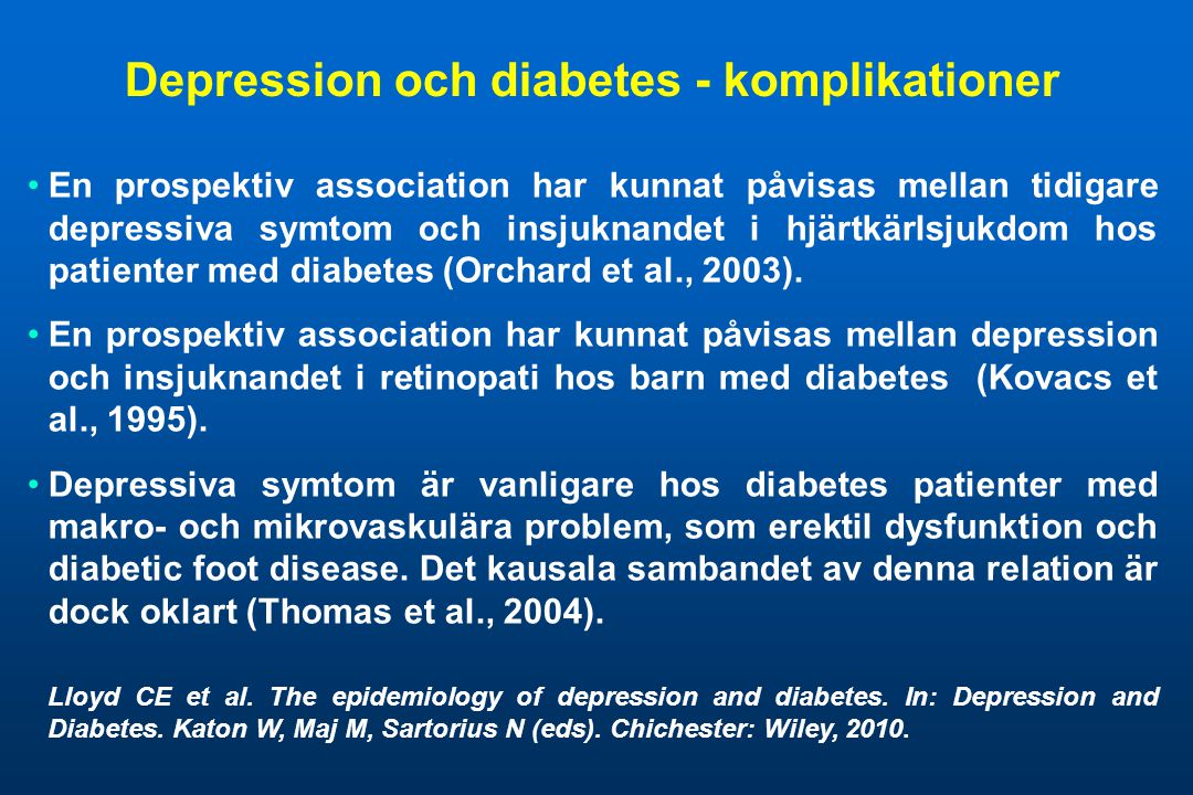 Depression och diabetes - komplikationer