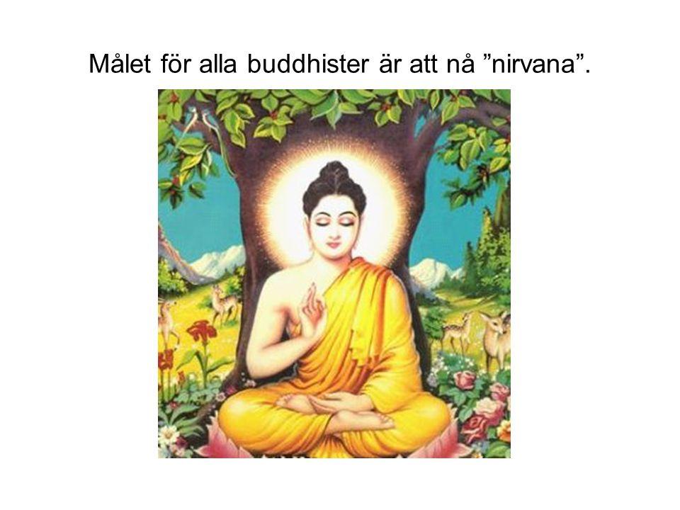 Målet för alla buddhister är att nå nirvana .