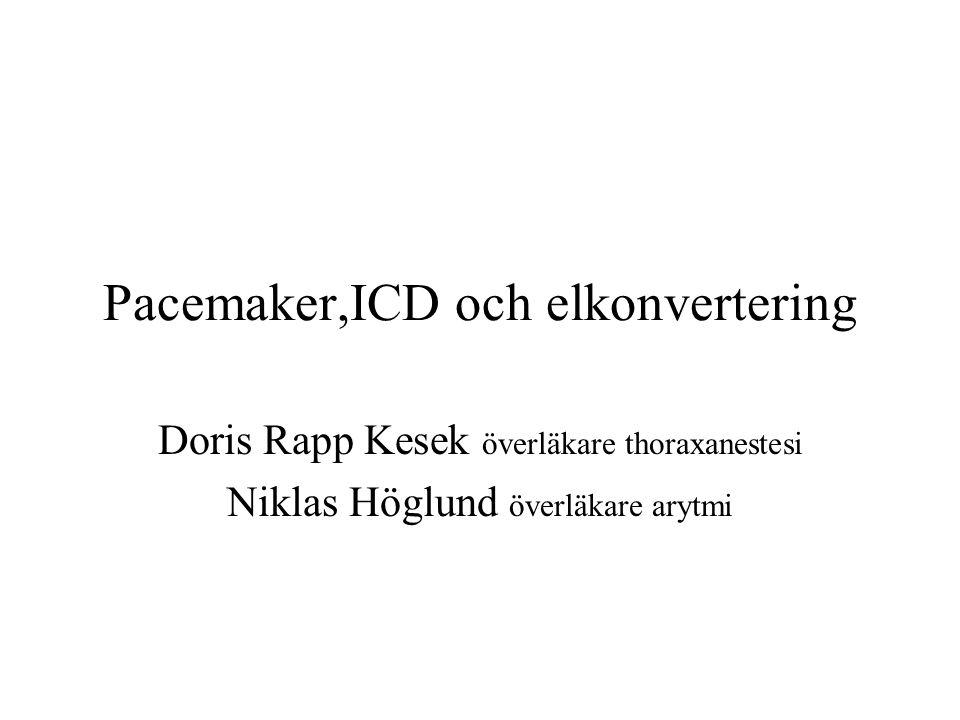 Pacemaker,ICD och elkonvertering