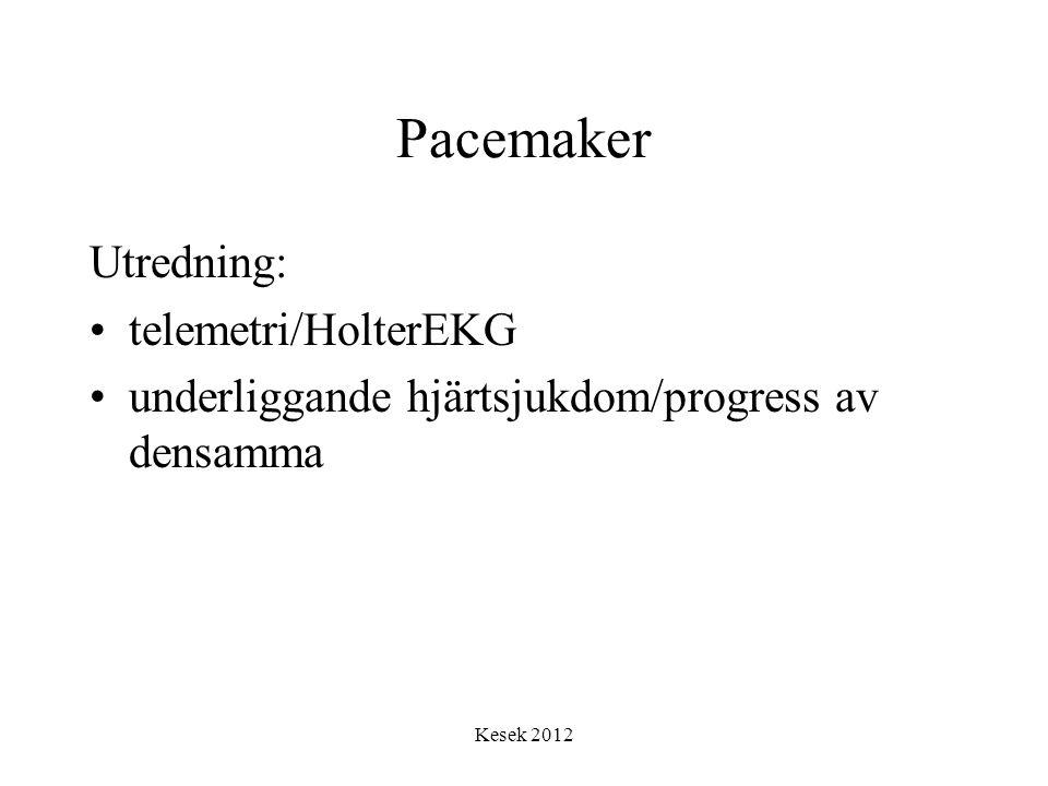 Pacemaker Utredning: telemetri/HolterEKG