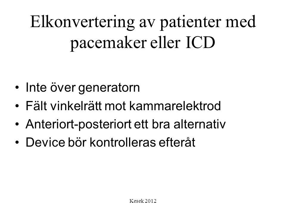 Elkonvertering av patienter med pacemaker eller ICD