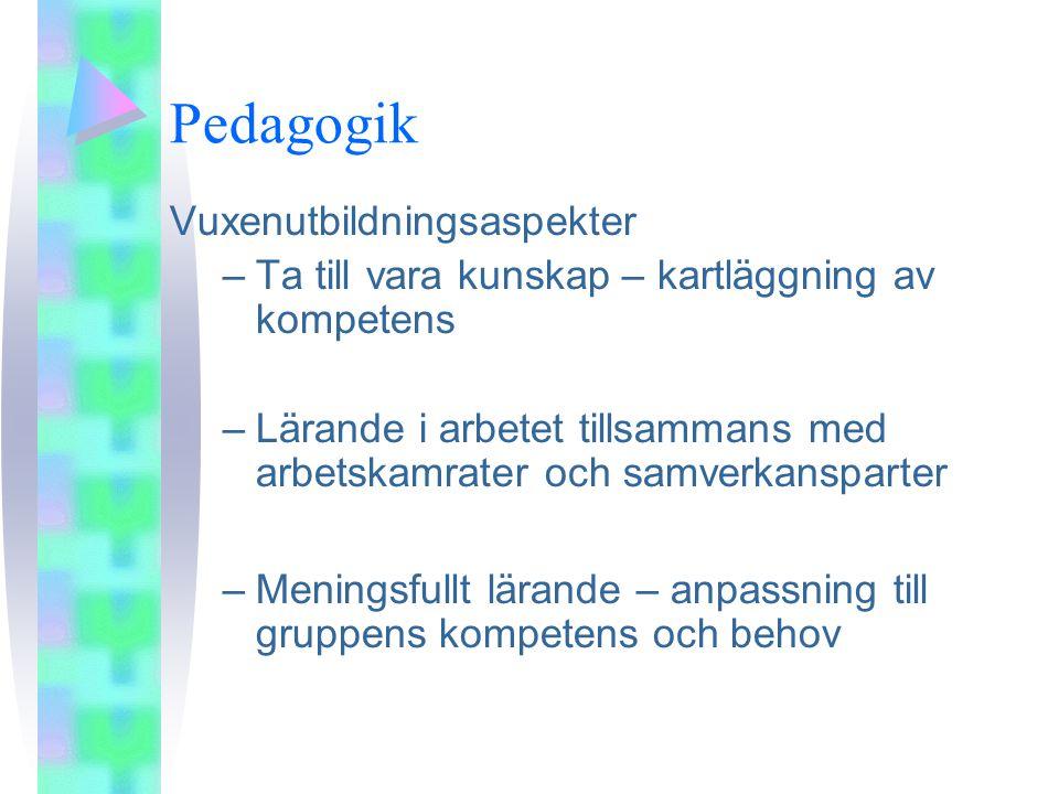 Pedagogik Vuxenutbildningsaspekter