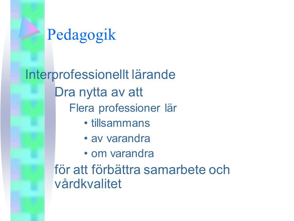 Pedagogik Interprofessionellt lärande Dra nytta av att