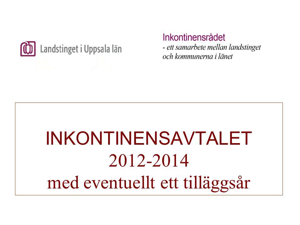 INKONTINENSAVTALET 2012-2014 med eventuellt ett tilläggsår