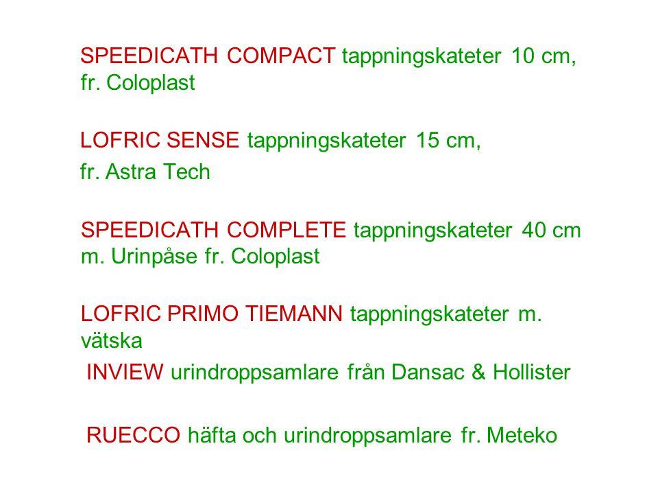 SPEEDICATH COMPACT tappningskateter 10 cm, fr. Coloplast
