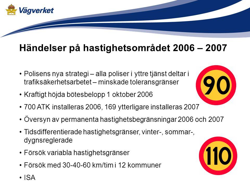 Händelser på hastighetsområdet 2006 – 2007