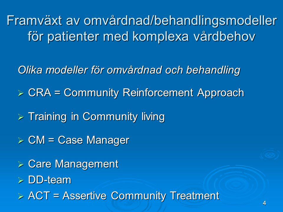 Framväxt av omvårdnad/behandlingsmodeller för patienter med komplexa vårdbehov