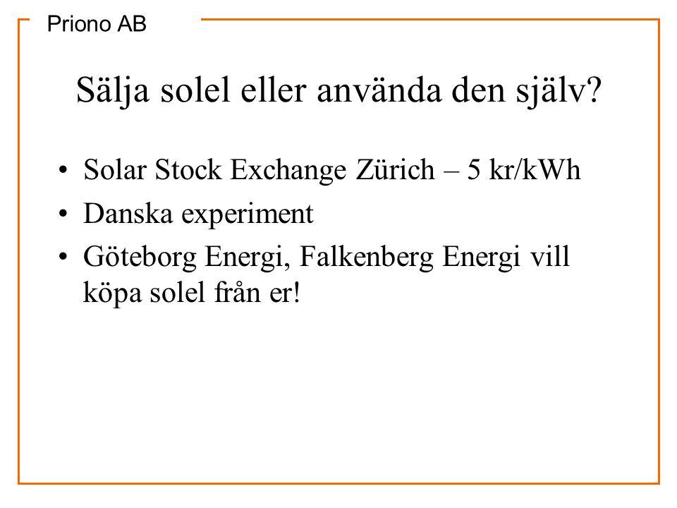 Sälja solel eller använda den själv